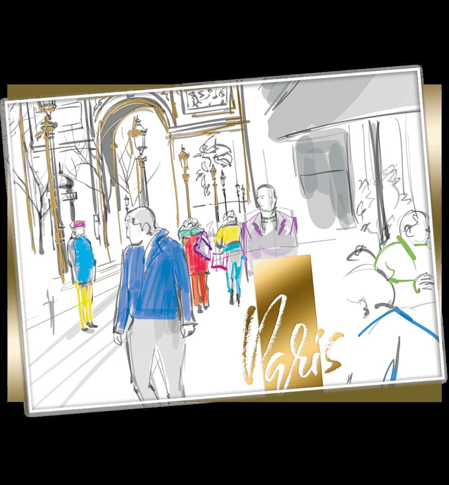 Carte voeux virtuelle professionnelle Paris éternel