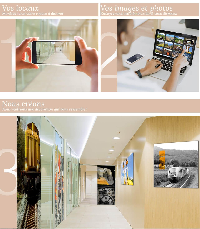Décoration Murale Bureau Entreprise decoration sur mesure de votre entreprise - editions du curieux