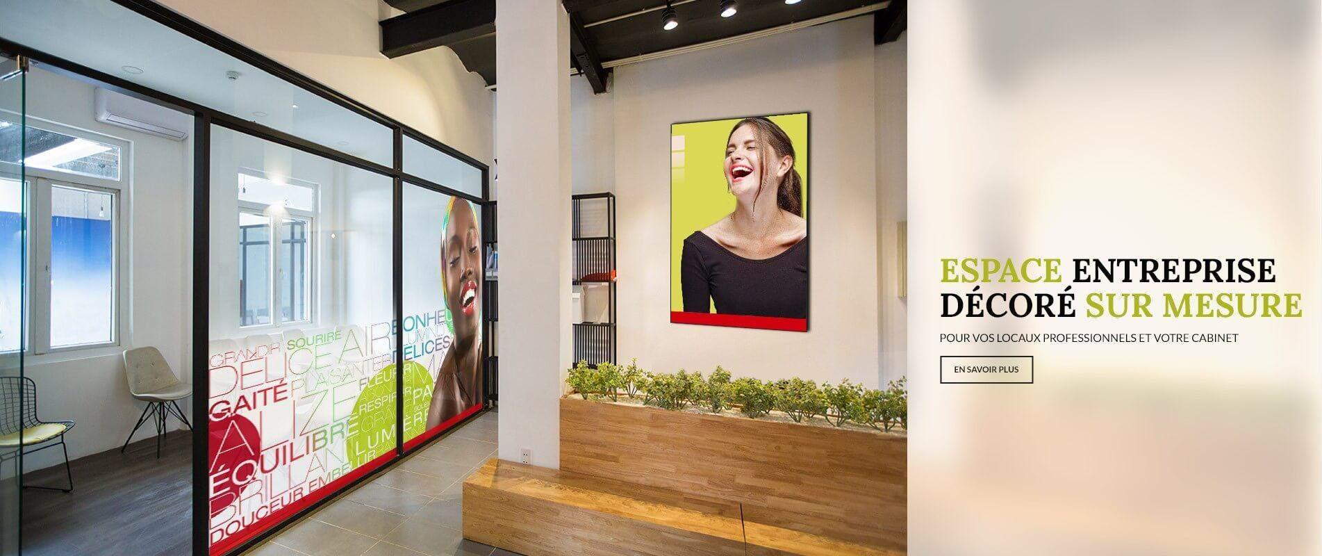 Nous créons vos espaces de bureau ou votre décoration personnelle sur mesure