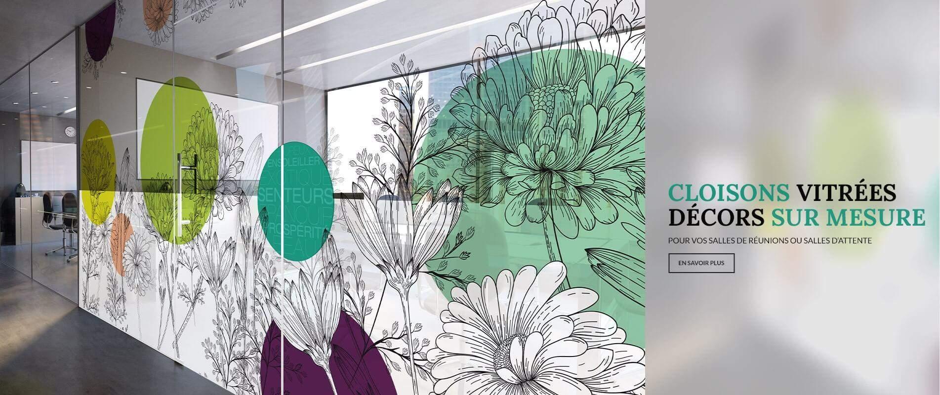 Décoration des couloirs et salles de réunions en transparence